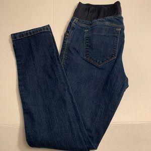 Old Navy maternity skinny jeans dark wash